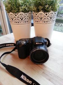De Nikon Coolpix L100. 15x zoom en 10 megapixel. Hier kan ik heerlijk mee oefenen. In 2015 mag ik van mijzelf een nieuwe kopen. Maar eerst sparen....;)